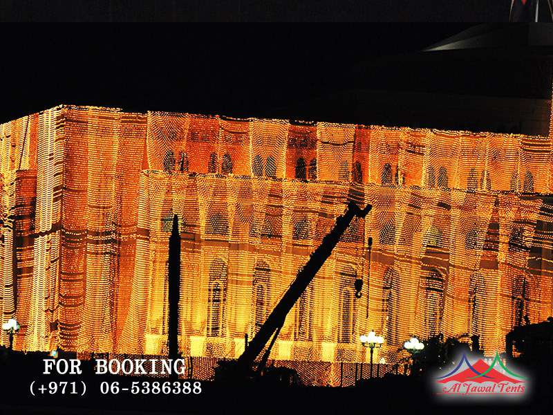 Event Lights Decoration for commercial building in Sharjah