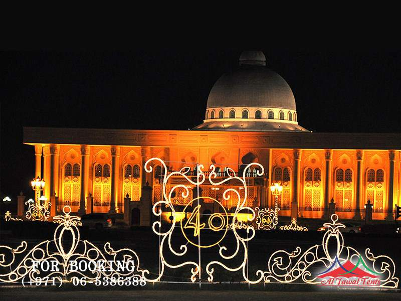 Event Lights Decoration for commercial 40 Indepence Day Sharjah