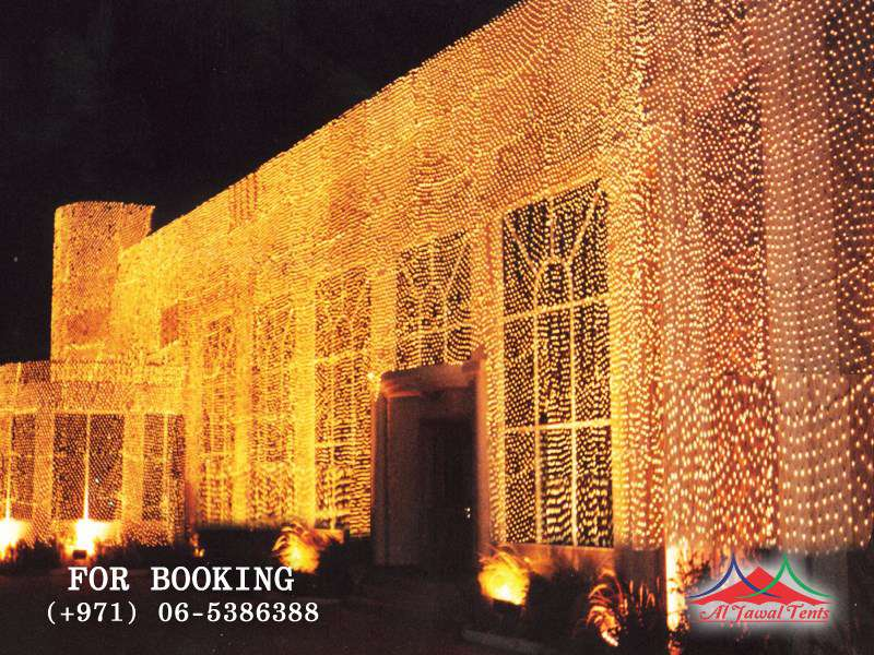 event lights decoration for commercial building in sharjah - Decoration Lights