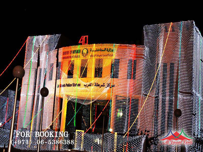 Event Lights Decoration Police Station AlGarab Sharjah Ajman Dubai