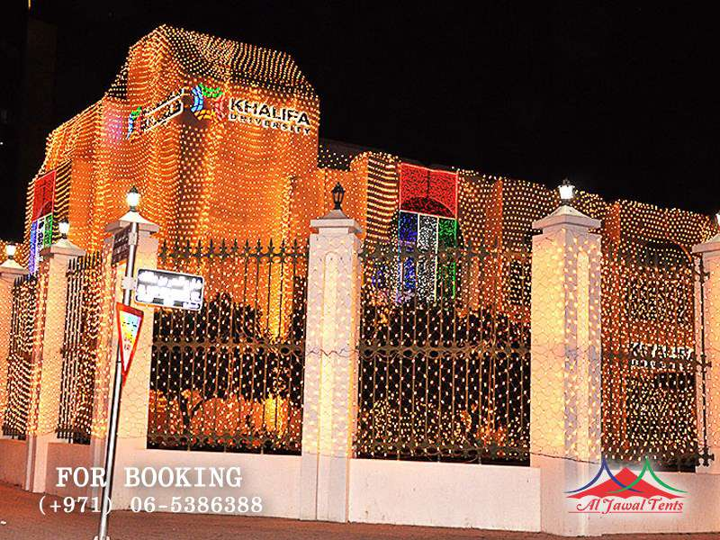 Aljawal light decoration in Sharjah