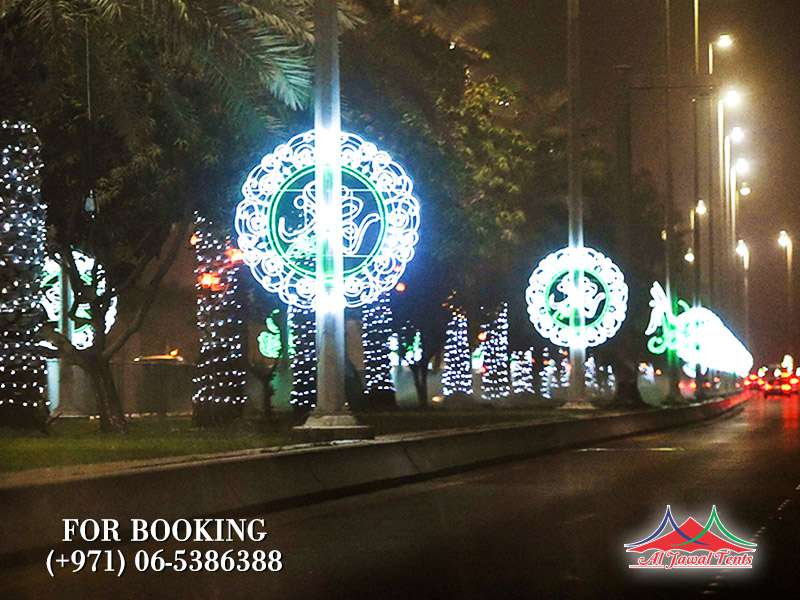 Road Light Decorsation in Sharjah Ajman Duabi