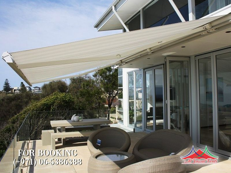 awning retractable shades Canopy suppliers manufacturers Sharjah and Dubai