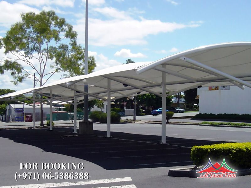 Car parking arch shades suppliers manufacturers Sharjah and Dubai