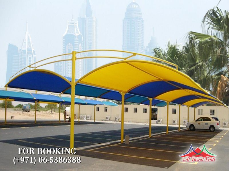 car parking double side arch style shades suppliers manufacturers Sharjah and Dubai