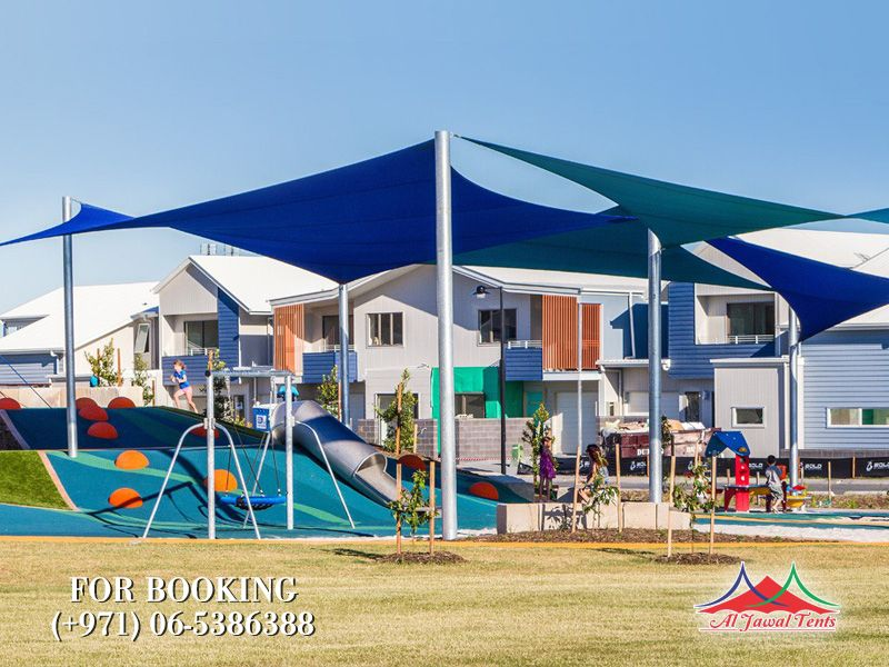 sail childern playarea shades canopy suppliers manufacturers Sharjah and Dubai