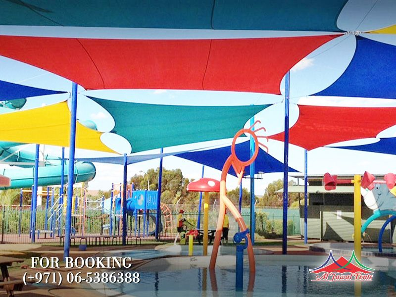 sail kids colored pool shades suppliers manufacturers Sharjah and Dubai